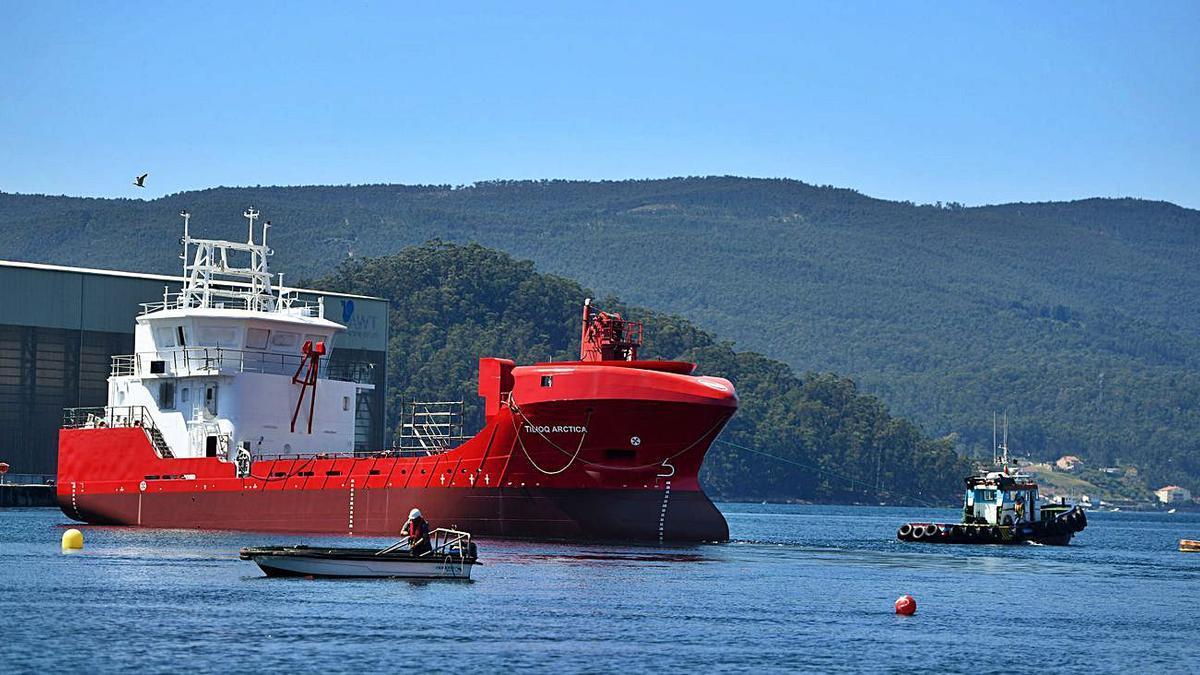 Nodosa bota el segundo buque para la naviera Royal Arctic Line   GUSTAVO SANTOS