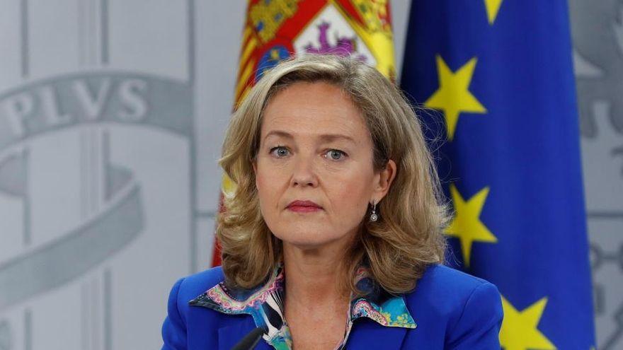 La ministra Nadia Calviño, hoy en Gran Canaria