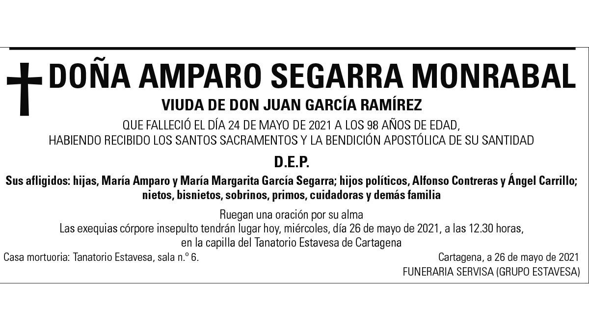 Dª Amparo Segarra Monrabal