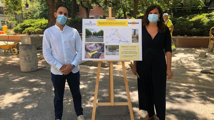 El ayuntamiento probará un nuevo asfalto de color crema en Pintor Segrelles para reducir el efecto del calor