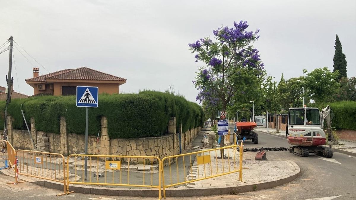 Una de las calles donde se han efectuado las obras.