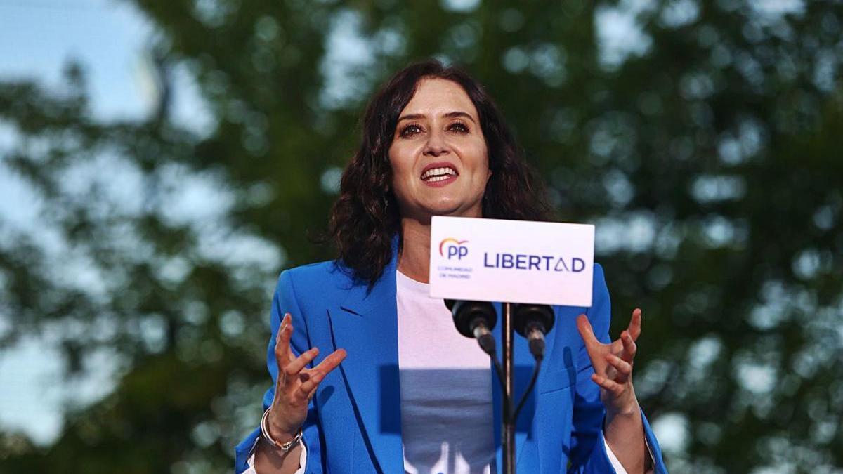 Ayuso va participar ahir en un acte de campanya a la localitat de Pinto.