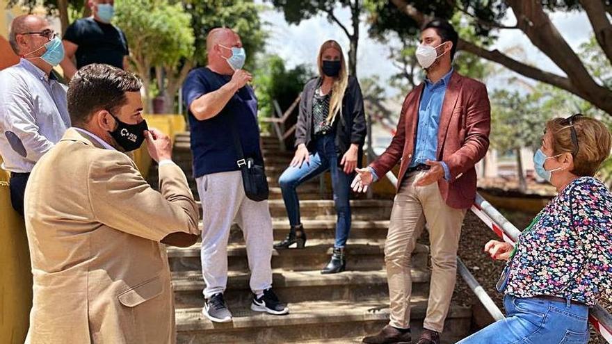 Servicios actúa en el parque público de El Gramal para evitar las escorrentías