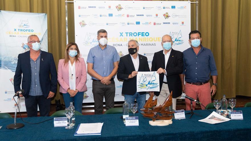 El RCNA y Calero Marinas recuperan el trofeo de vela César Manrique después de una década sin celebrarse