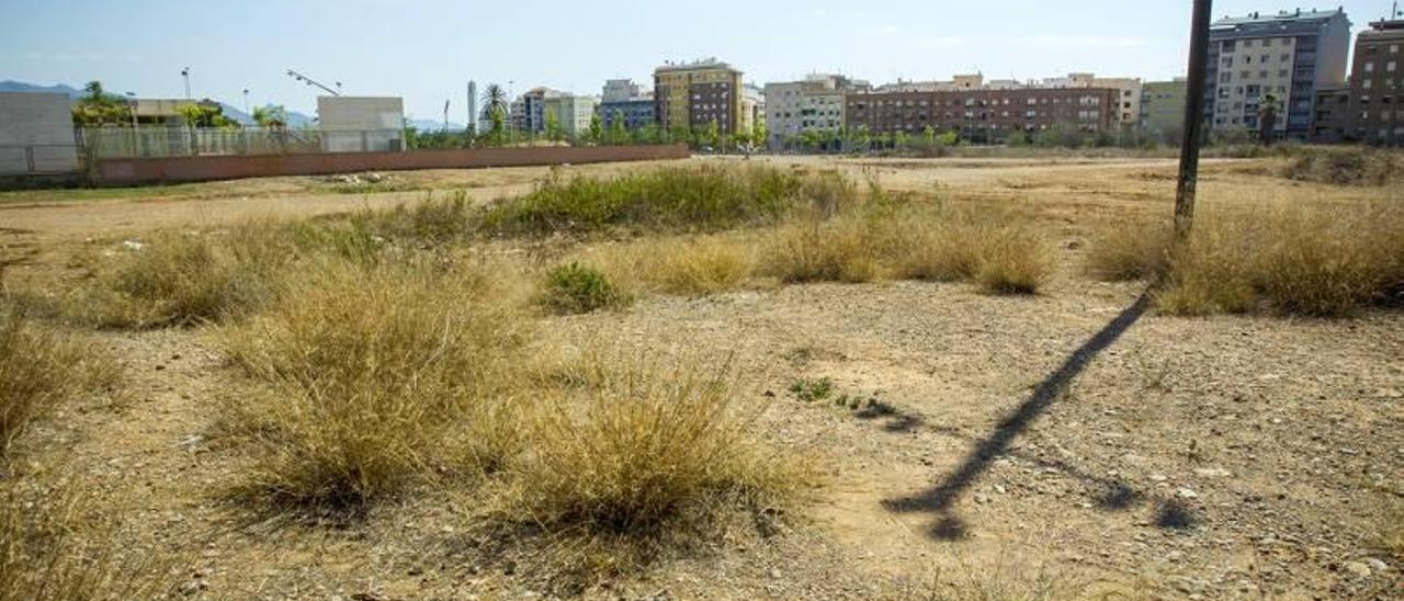 Solares vacíos e insalubres rodean el colegio Soler i Godes