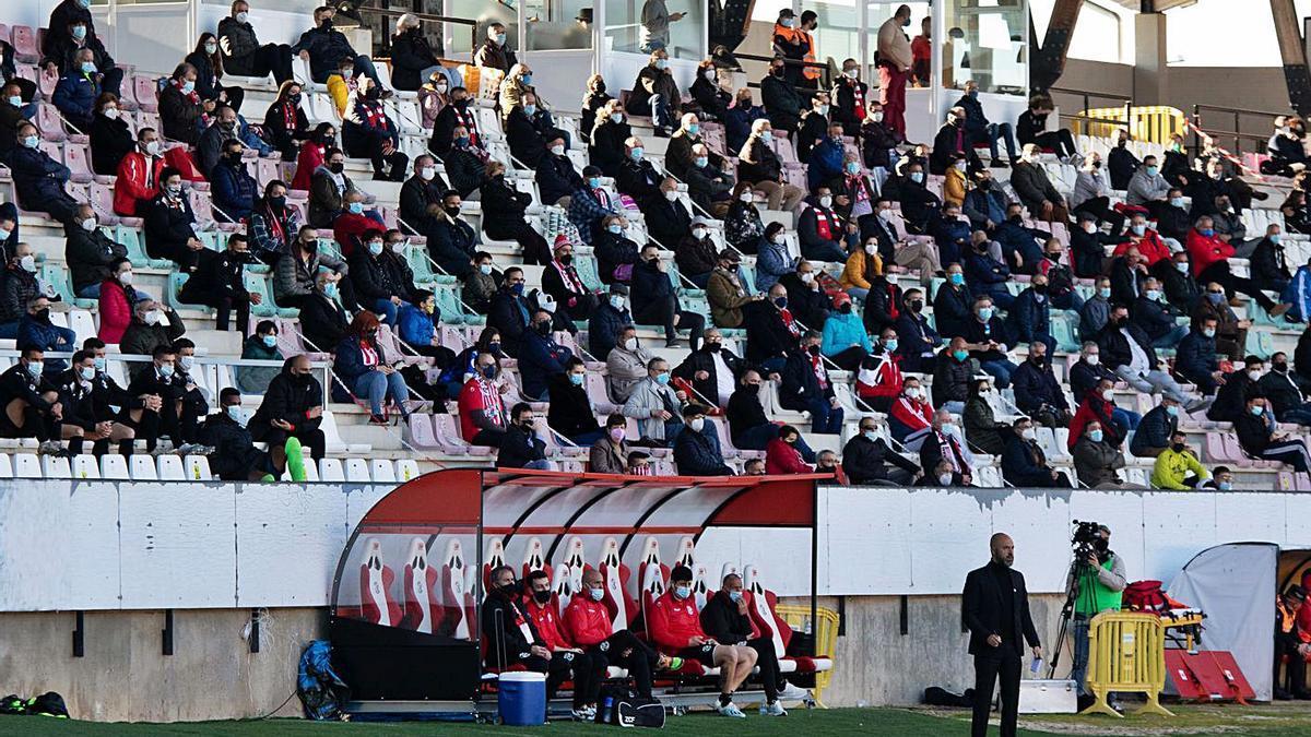 La afición del Zamora ha sido fiel al equipo pese a las restricciones de la pandemia. / JLF
