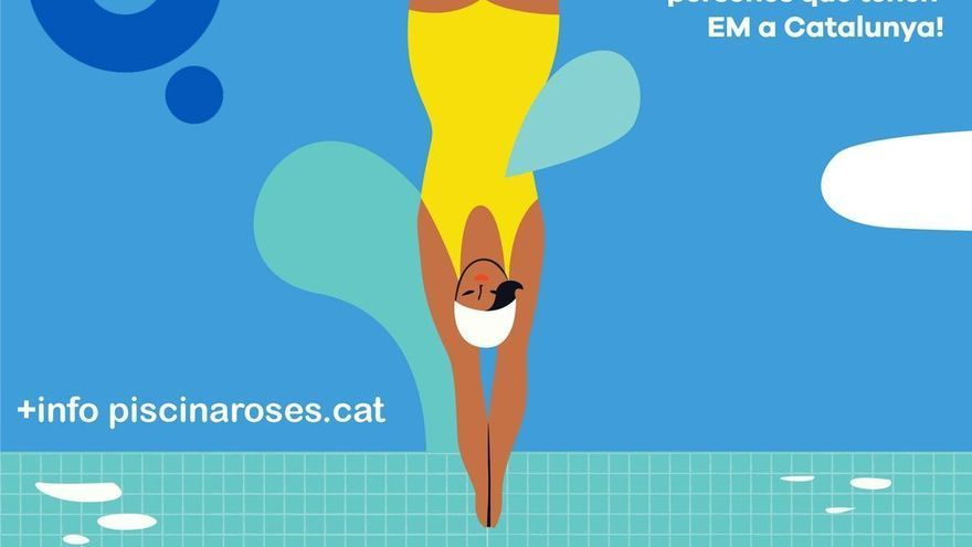 La piscina de Roses torna a acollir la campanya 'Mulla't per l'esclerosi múltiple'