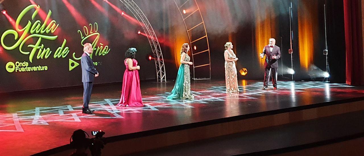 Un momento de la grabación de la Gala Fin de Año, en el Palacio de Formación y Congresos de Fuerteventura.