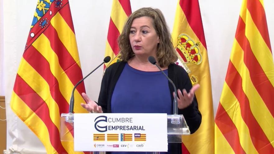 Armengol destaca los fondos europeos para trabajar entre los territorios de la antigua Corona de Aragón