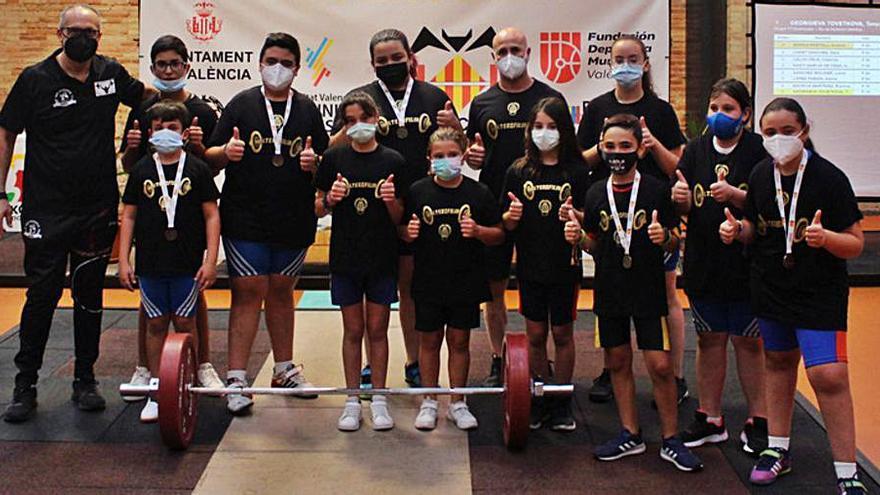 Los halteras de Alzira suman 6 metales en los Jocs Esportius