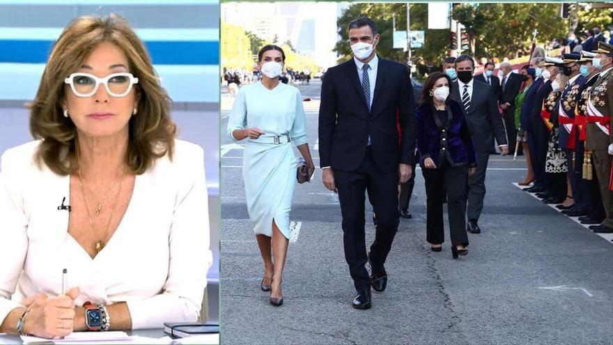 """Ana Rosa, sobre los abucheos a Sánchez en el 12 de Octubre: """"Va muy poco a la calle"""""""