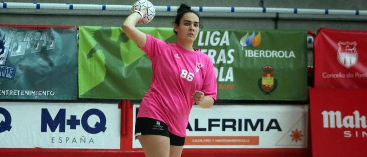 Julia Suárez, en un entrenamiento.