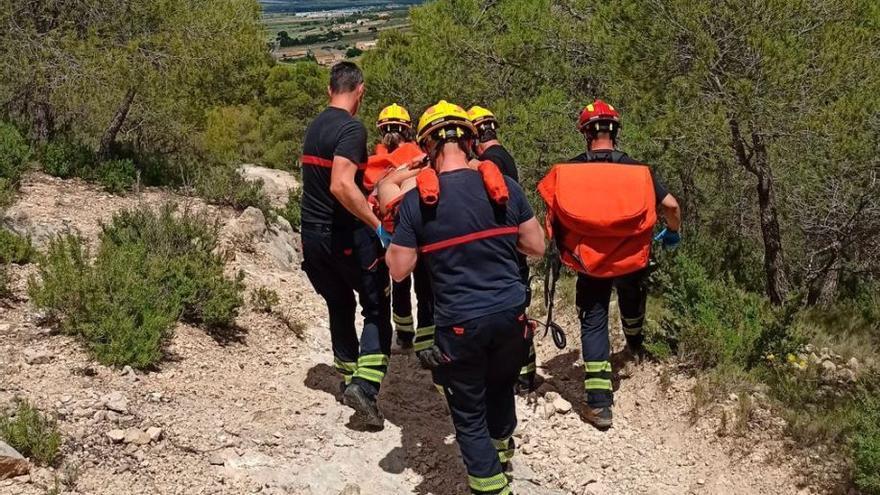 Rescatan a un senderista accidentado en Cañada
