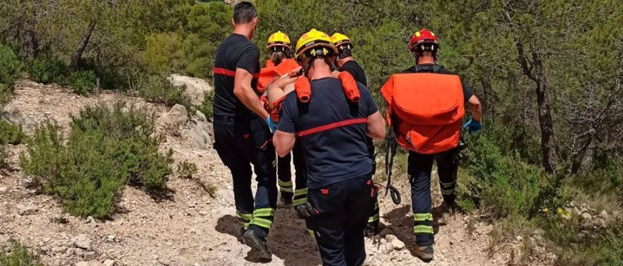 El rescate del accidentado en la Cañada.