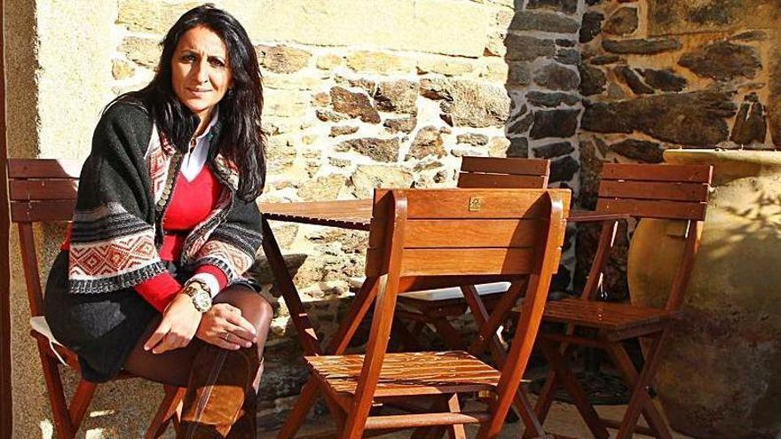 Graciela Vila, en el Pazo de Bendoiro. |   // BERNABÉ