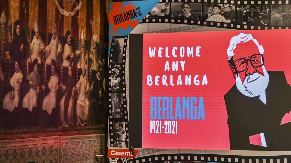 Acte inicial de l'Any Berlanga, al Palau de la Generalitat, el 12 de juny de 2021. E. Ripoll