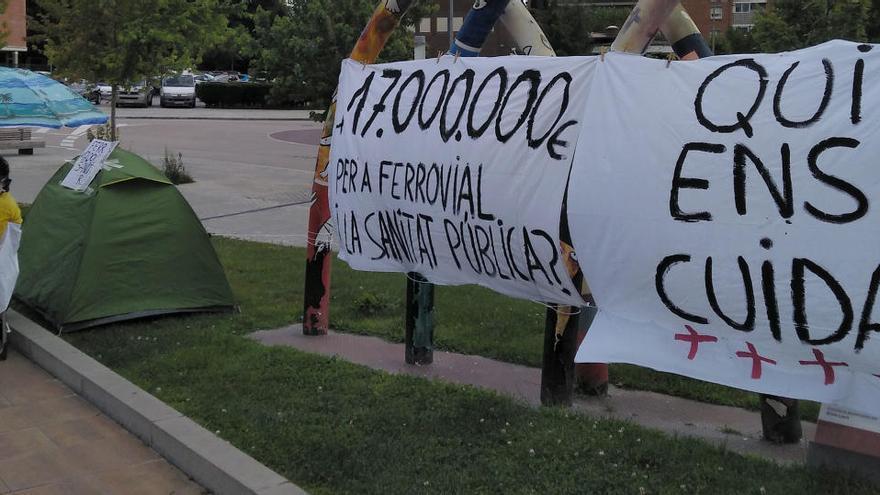 Protesta a Manresa contra l'externalització del rastreig de casos de covid
