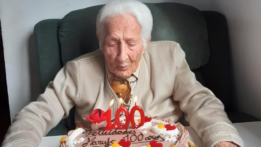 Manuela Sánchez, centenaria de Requejo de Sanabria