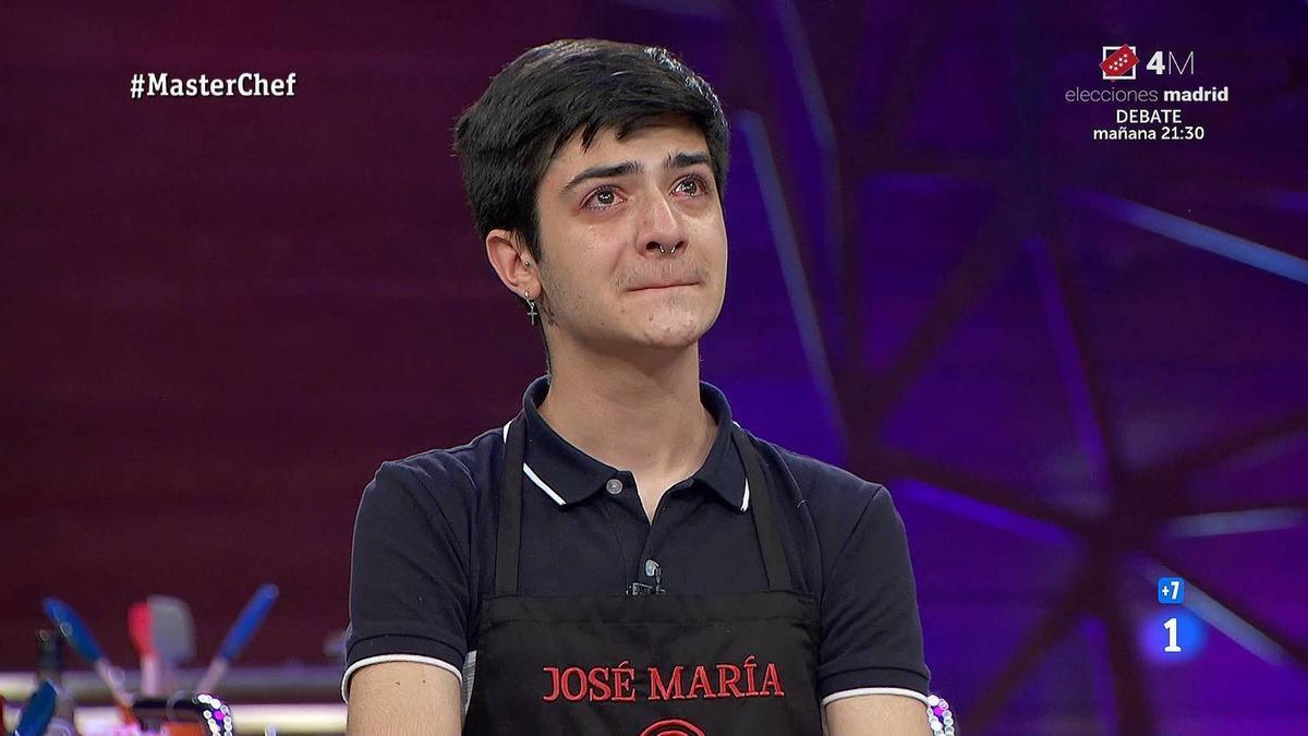 José María, concursante expulsado de Masterchef.