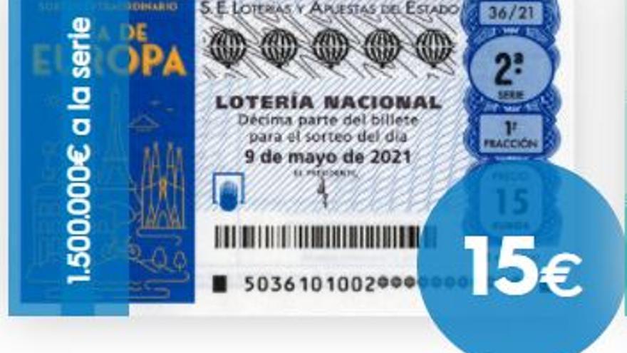 Sorteo extraordinario del Día de Europa de la Lotería Nacional: horario y premios
