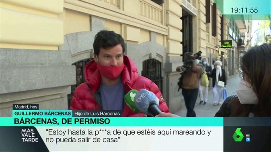 """El cabreo de Willy Bárcenas con la prensa por hacer guardia en su casa: """"Estoy hasta la..."""""""