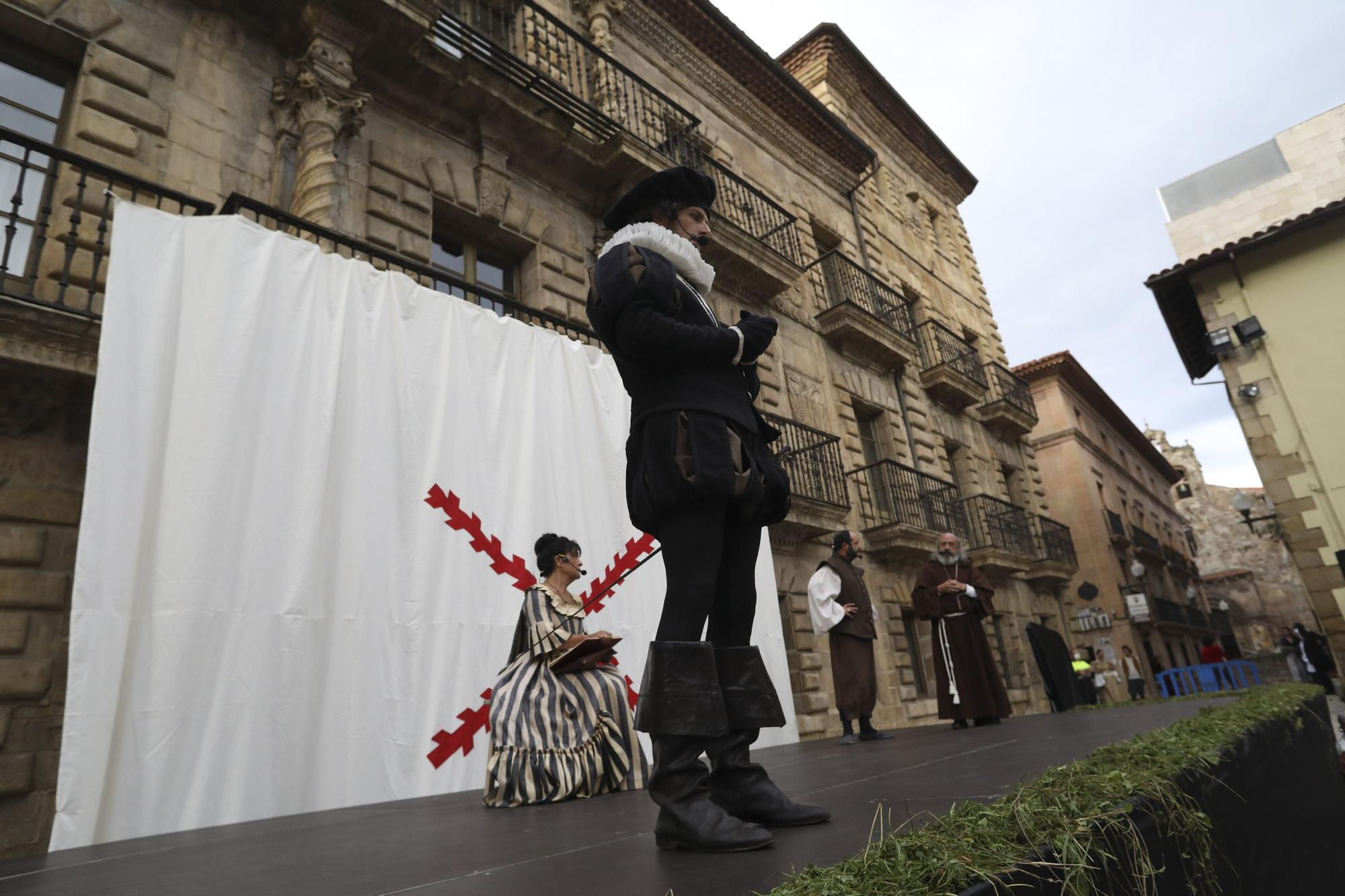 El Adelantado Pedro Menéndez recluta marineros en Avilés