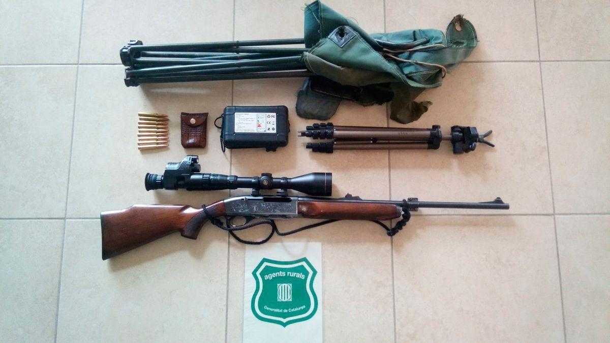 Material interceptat pels Agents rurals