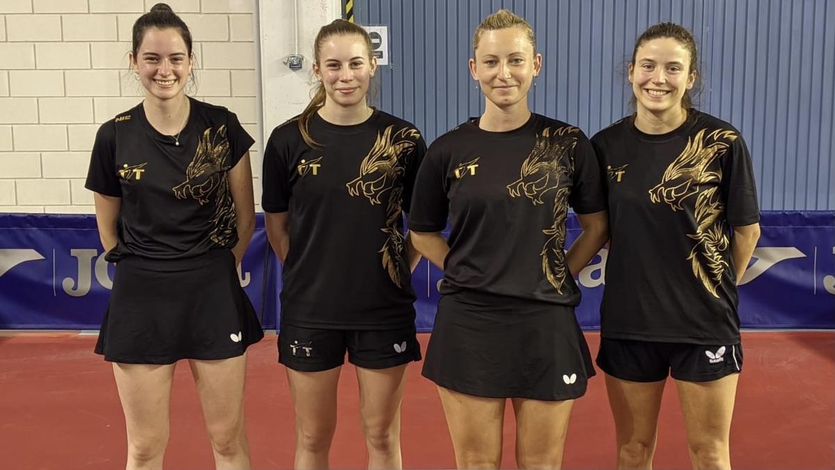 Jana Riera Molons, Maria Balanzó, Gàlia Dvorak i Claudia Caymel.