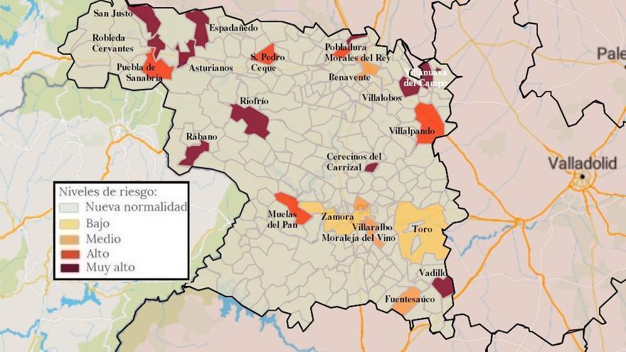 Mapa de coronavirus de Zamora, hoy, domingo | Santibáñez de Vidriales, en zona limpia