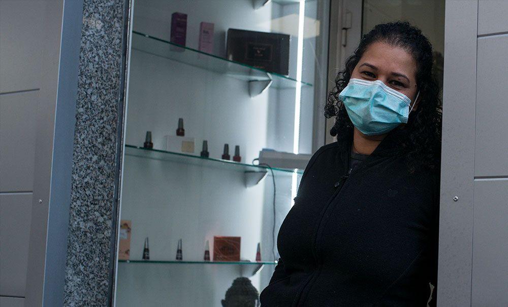 Comerciantes en la Ourense confinada