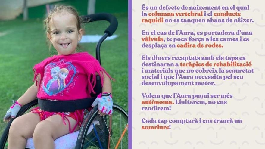 Crida solidària per ajudar una nena de Cardona amb espina bífida