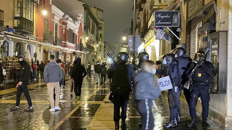 Los disturbios de León y su alfoz se saldan con un detenido y 16 identificados