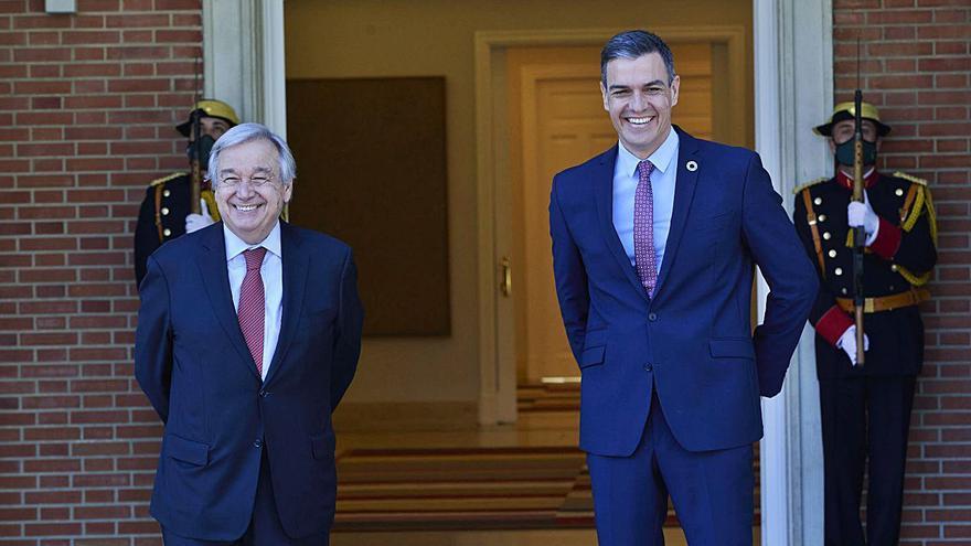 Sánchez exhibeix el suport de l'ONU a la seva aposta pel diàleg a Catalunya