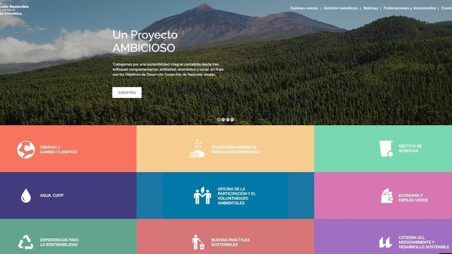El Área de Desarrollo Sostenible del Cabildo de Tenerife estrena nueva web