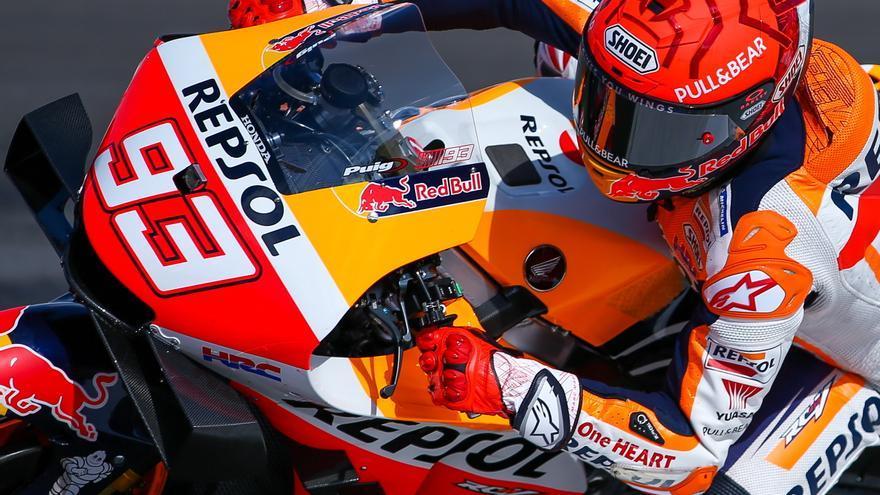 Marc Márquez sorprende con la tercera plaza en los primeros libres en el GP de Portugal
