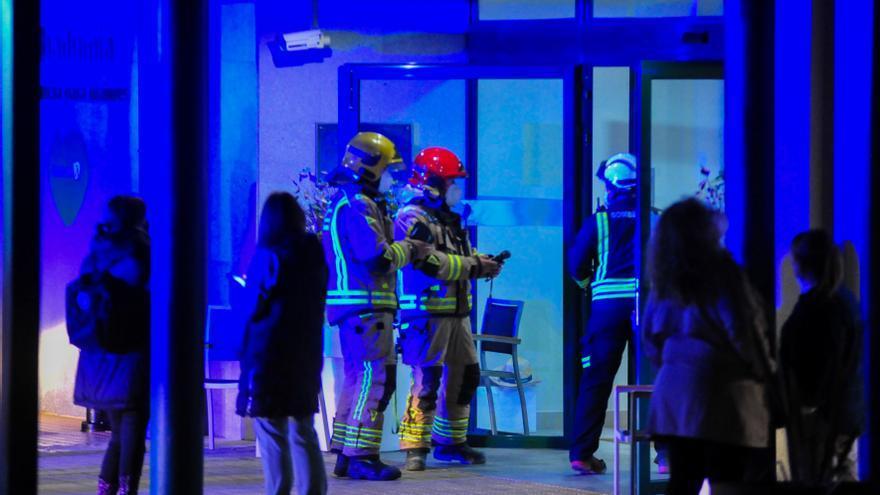 Incendio en la residencia de Ribadumia