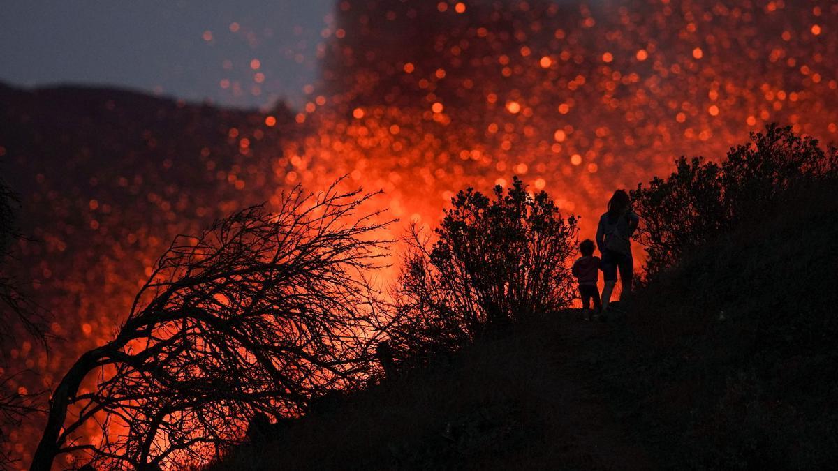Una imagen del volcán de La Palma.