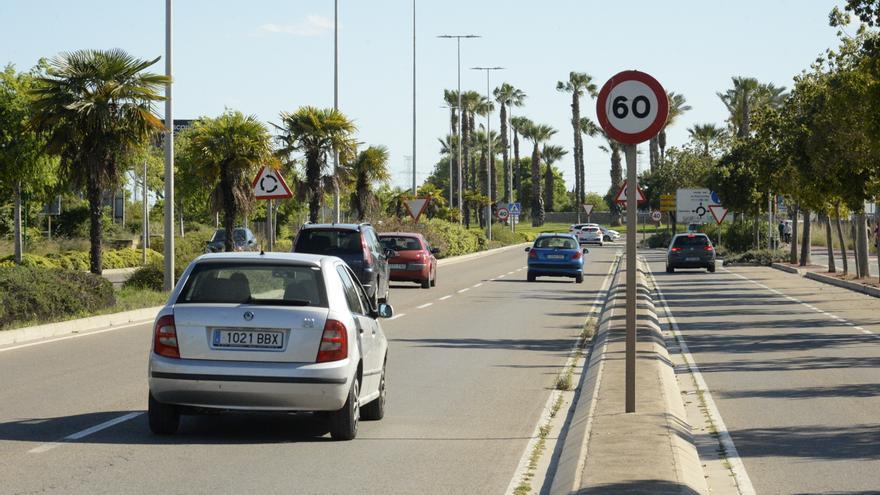 Multas de entre 100 y 600 € por no respetar los nuevos límites de velocidad en Castelló