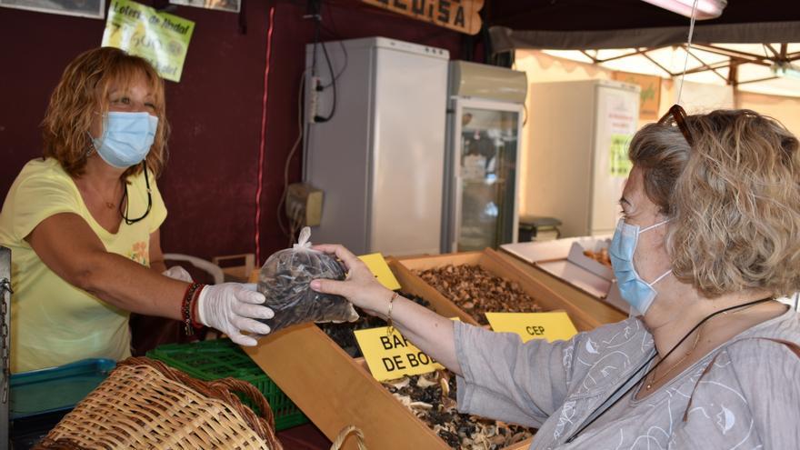 Rovellons, ceps i rossinyols protagonitzen l'obertura del mercat del bolet de Cal Rosal