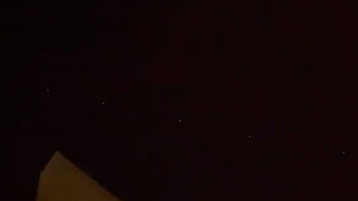 Las extrañas luces que se pudieron ver en el cielo desde València.