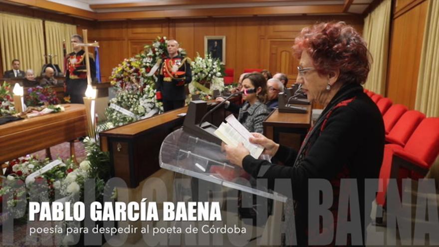 Los poetas despiden a Pablo García Baena