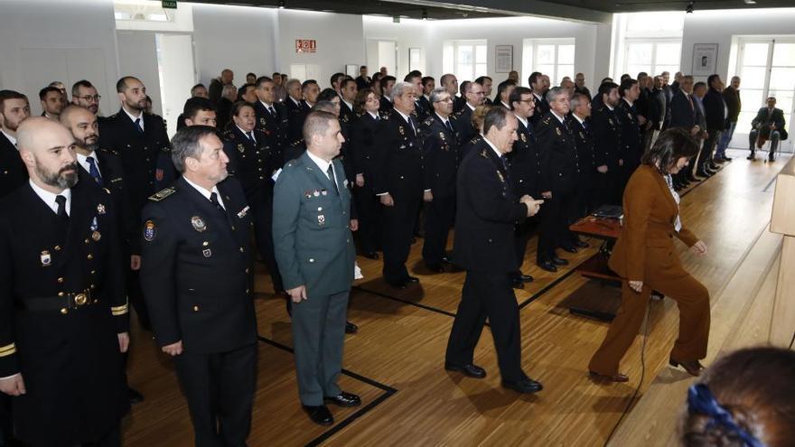 Acto de los los 195 años de la Policía Nacional en Vigo