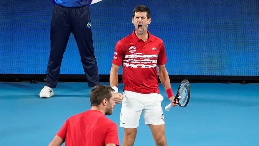 Djokovic lidera a Serbia en la conquista de la ATP Cup ante España
