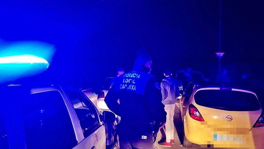 La Policía Local disuelve un botellón en Tejina y levanta doce actas de sanción