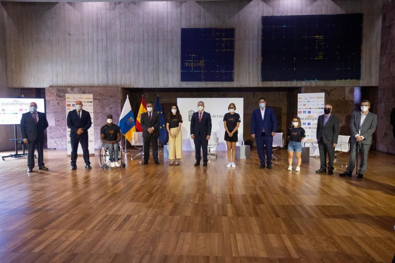 Presentación de los deportistas paralímpicos canarios preseleccionados para Tokio 2021