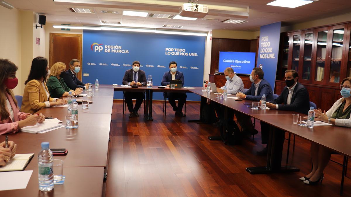 Reunión del Comité Ejecutivo regional del PP.