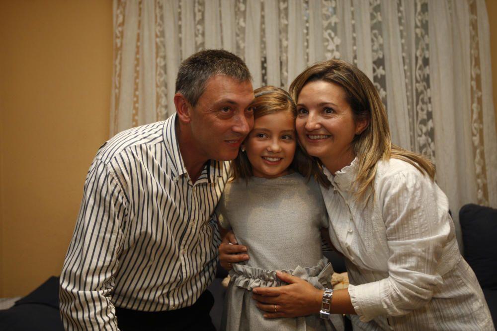 Una foto clásica con los progenitores.