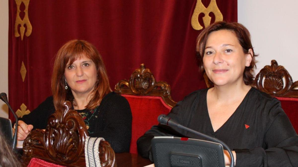 Las concejalas de UP en el ayuntamiento de Cartagena