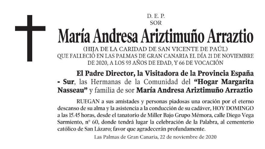 María Andresa Ariztimuño Arraztio
