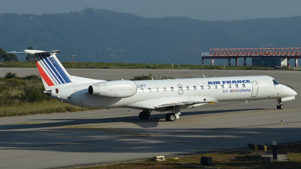 Un avión de Air France, en Peinador
